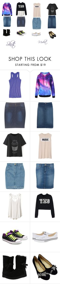 """""""Skirts"""" by hunterhayesfan92 ❤ liked on Polyvore featuring Xandres xline, Acne Studios, Topshop Unique, Wrangler, RVCA, Converse and UGG"""