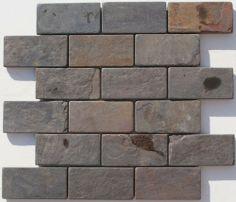 Discount Glass Tile Store - Slate Tile - 2x4 Multi Color, $4.79 (http://www.discountglasstilestore.com/slate-tile-2x4-multi-color/)