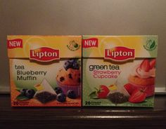 Yes please! Lipton tea Blueberry Muffin & Strawberry Cupcake