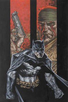 Batman and Deathblow by Lee Bermejo