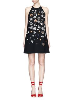 Pin for Later: But of Course Victoria Beckham Jet-Sets to Cannes in a Dazzling Dress  VICTORIA, VICTORIA BECKHAM Bricolage floral embellished shift dress ($1,695)
