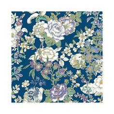 A-Street Prints1014-001847   Kismet Indigo Ainsley Indigo Boho Floral Wallpaper - A Street PrintsAdditional Colors Below