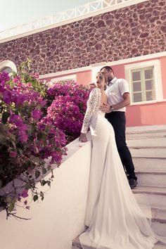 Honeymoon Photo Shoot in Oia Honeymoon Photography, Wedding Photography, Santorini Honeymoon, Santorini Photographer, Lace Wedding, Wedding Dresses, Photo Shoot, Fashion, Marriage Dress