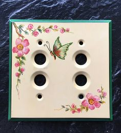 Vintage Push Button Light Switch Cover Hand by historyofagirl