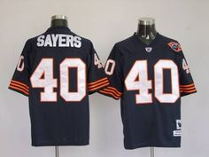 Mitchell and Ness Chicago Bears 40 Gale Sayers Blue With Big Number Bear Patch Stitched Throwback NFL Jersey:$21