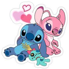 Disney Stitch, Lilo Ve Stitch, Lelo And Stitch, Lilo And Stitch Drawings, Lilo And Stitch Quotes, Cute Disney Drawings, Cute Drawings, Angel Lilo And Stitch, Cute Stitch