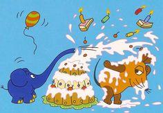Postkarte - Die Maus Geburtstagstorte Postkarten