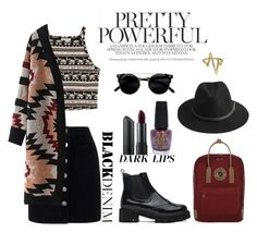 """Black & Ruby"" by atlanticas ❤ liked on Polyvore featuring Fjällräven, Miss Selfridge, BeckSöndergaard, OPI, Bite and Bling Jewelry"