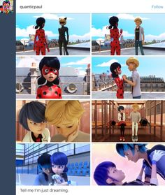 I must be dreaming this can't be real. What if Adrien is just dreaming! Bugaboo, Lady Bug, Ladybug Und Cat Noir, Miraculous Ladybug Memes, Marinette And Adrien, Wings Of Fire, Miraclous Ladybug, My Little Baby, Cartoon Shows