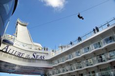 Because ginormous cruise ships without zip lines are just too basic.
