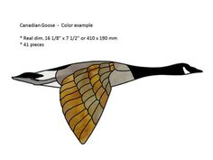 GOOSE-stained-glass-pattern-numbered-FREE-SHIPPING