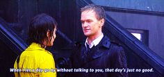 """When it was clear Barney and Robin had something: 