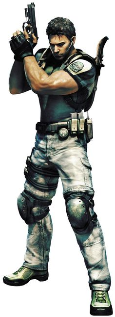 Chris Redfield->resident evil 6.....I think I need to be playing this game because of the muscles er I mean gameplay lol