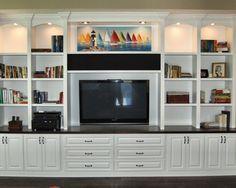 home theater custom cabinets | Gallery of Elegant Custom Made Entertainment Center For Modern Family ...