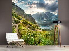 Raumansicht Wohnzimmer Fototapete Bergaussicht