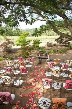 wedding chairs with a touch of color