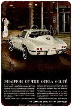 1975 Chevrolet Corvette Coupe Vintage Look Reproduction 8 x 12 Metal Sign