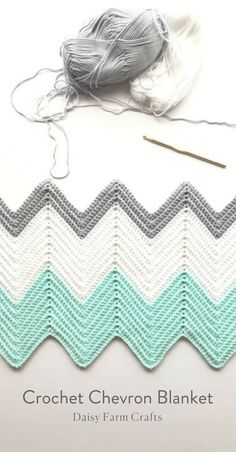 Free Pattern - Crochet Chevron Blanket