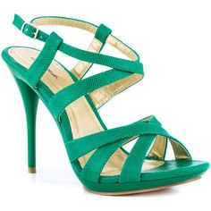 Promise Shoes Zuni - Green ($50) ❤ liked on Polyvore