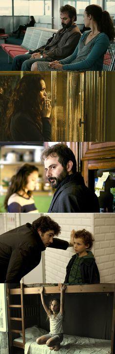 "Bérénice Bejo, Tahar Rahim and Ali Mosaffa in ""Le passé"" (2013) dir. by Asghar Farhadi"
