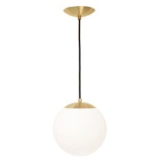 Iconic midcentury reissued. Other companies sell similar style pendants with generic painted steel parts, vinyl cord and thin glass. Our version of this iconic design features uncompromising quality; solid brass parts with authentic midcentury profiles made exclusively for Cedar & Moss p