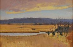 """Across the Marsh"", Curtis W. Hanson, (b. 1949), Oil on panel, 12 x 18"", Collection of Jonathan Small."