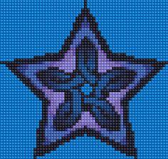 Celtic Star cross stitch (no pattern)