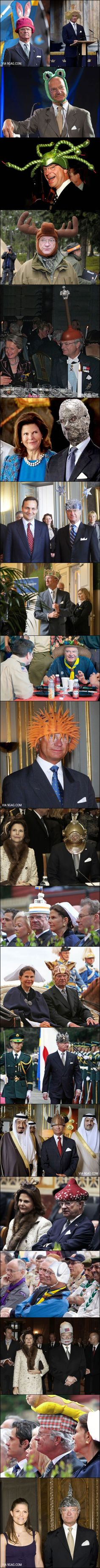 We can all agree that King Gustaf of Sweden is hilarious. Haha