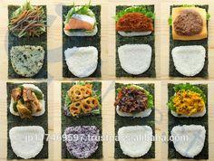 One fold onigirazu Mochi, Cute Food, Yummy Food, Asian Recipes, Healthy Recipes, Healthy Sushi, Bento And Co, Onigirazu, Sushi Burger