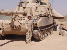 M109A6 Paladin 155mm Self-Propelled Artillery System. Iraq.