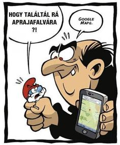 Gargamel trouve le village des Schtroumpfs - Gargamel found the Smurfs village Funny Cartoons, Funny Comics, Funny Jokes, Memes Humor, Really Funny, The Funny, Humor Grafico, Just For Laughs, Laugh Out Loud