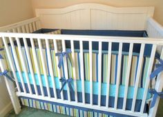 Seaside in Blue Crib Bedding Set by butterbeansboutique on Etsy, $299.00