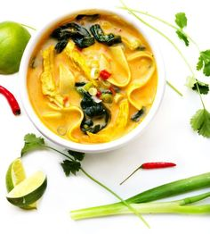 Coconut Curry Chicken Soup  Panning The Globe