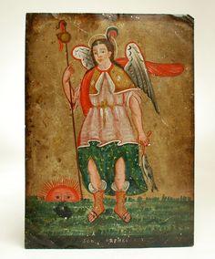 San Rafael Archangel Retablo | Colonial Arts