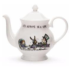 Alice In Wonderland Teapot ($77) ❤ liked on Polyvore featuring home, kitchen & dining, teapots and bone china