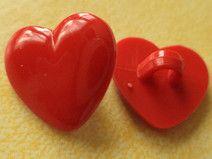 8 KINDERKNÖPFE rot 13mm (4397-2)kleine Knöpfe Herz