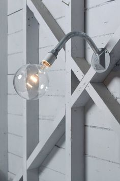Industrial Lighting  Wall Mount Sconce Bare Bulb by IndLights, $55.00 (for Hazelwood front bathroom?)