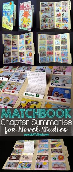 Chapter Summaries for Novel Studies Got to Teach!: Matchbook Chapter Summaries for Novel StudiesGot to Teach!: Matchbook Chapter Summaries for Novel Studies Reading Projects, Reading Lessons, Book Projects, Reading Strategies, Reading Activities, Teaching Reading, Reading Comprehension, Fun Projects, History Projects