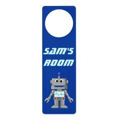 Happy Robot Door Hangers