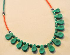 Modern Turquoise Necklace Sleek and Fun with by stitchandsmith, $21.50