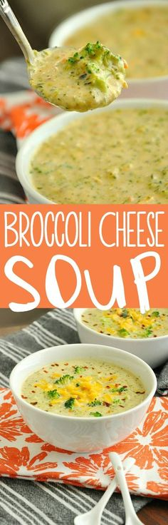 The BEST Broccoli Cheese Soup of my life! No cream of anything, no velveeta, just whole foods and a super yummy bowl of soup!