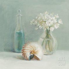 White Flower Spa Print by Danhui Nai at Art.com