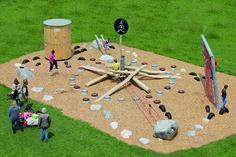 Ganzheitliches Training in den KOSMOTORIK® Bewegungsparks Baseball Field, Playground, Climbing, Den, Giraffe, Training, Things To Do, School, Children Playground