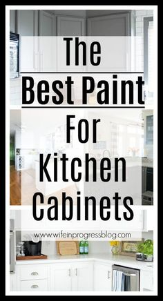 The best paint for painting kitchen cabinets. Get this first step right and you'… The best paint for painting kitchen cabinets. Get this first step right and you're on the right track to beautifully painted cabinets!