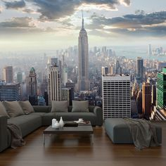 Wall Mural Photo Large New York Sunrise Scene Wallpaper Interior Art Decoration | eBay