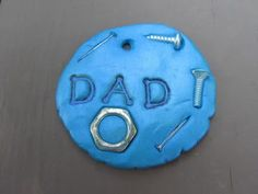 Father's Day Clay Keychain, Polymer Clay