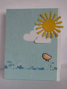 Lawn Fawn - Scripty Hello, Spring Showers, Hello Sunshine stamp _ adorable card by Teresa via Flickr - Photo Sharing!