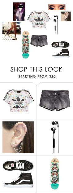 """skate sesh"" by audweema ❤ liked on Polyvore featuring adidas Originals, Otis Jaxon, Skullcandy and Vans"
