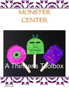Halloween Fun - Center Activities by A Thinker's Toolbox #pumpkin #monster #craft #ghost #book #fun
