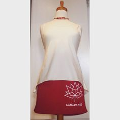 Available for a limited time. Canada 150 celebration miniskirt. Made in Vancouver from hemp and organic cotton. $49 Canada 150, Summer Styles, Hemp, Vancouver, Organic Cotton, Celebration, Mini Skirts, Spring, How To Make